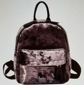Handbags - Mini Velvet Backpack